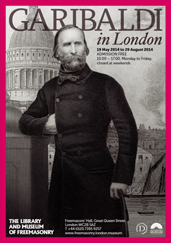 Garibaldi in London: 2014 Exhibition poster
